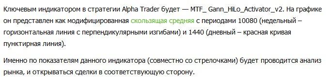 Форекс стратегия Alpha Trader